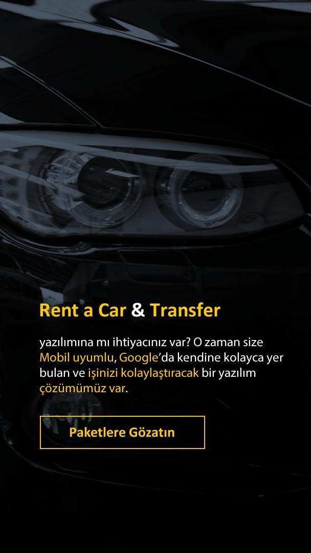 Rent a Car Sitesi Paketleri